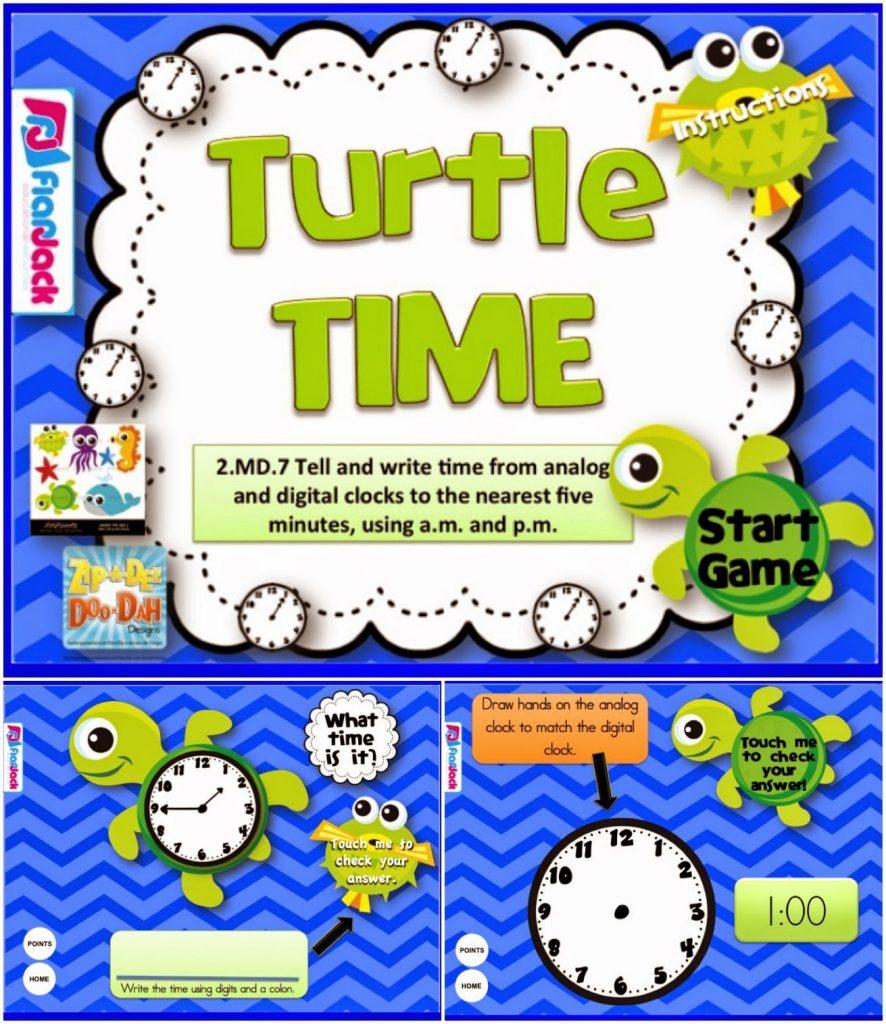 http://www.teacherspayteachers.com/Product/Turtle-Time-Smart-Board-Game-CCSS2MD7-1232935