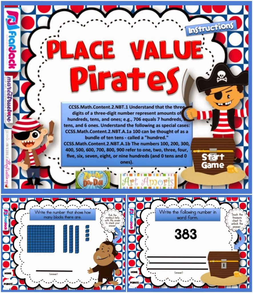 http://www.teacherspayteachers.com/Product/Place-Value-Pirates-Smart-Board-Game-CCSS2NBTB5-1232835