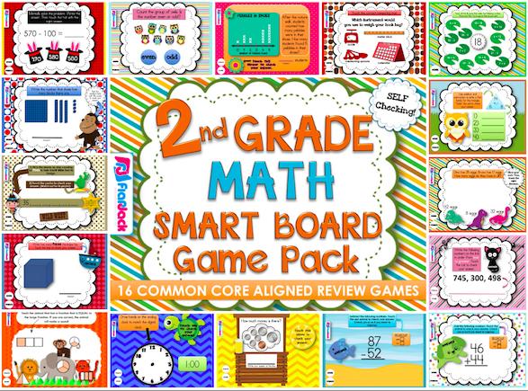 http://www.teacherspayteachers.com/Product/Second-Grade-Math-Smart-Board-Game-Pack-Common-Core-Aligned-1232054