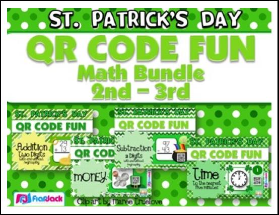 http://www.teacherspayteachers.com/Product/St-Patricks-Day-Math-Fun-QR-Code-Task-Card-Bundle-2nd-3rd-grade-1129857