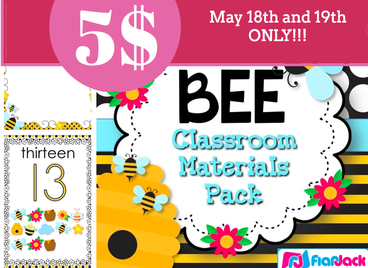 Bee Themed Classroom Pack – 50% Off Today and Tomorrow