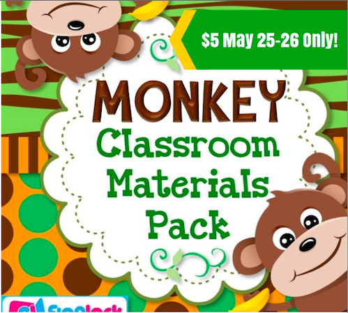 Monkey Classroom Decor Pack – 50% Off!