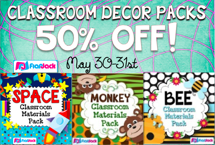 8,000 Facebook Fans Classroom Decor Sale!