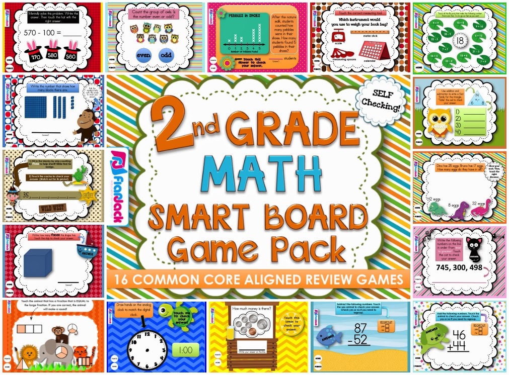 Flower Graphing Smart Board Freebie and New 2nd Grade SB Math Pack