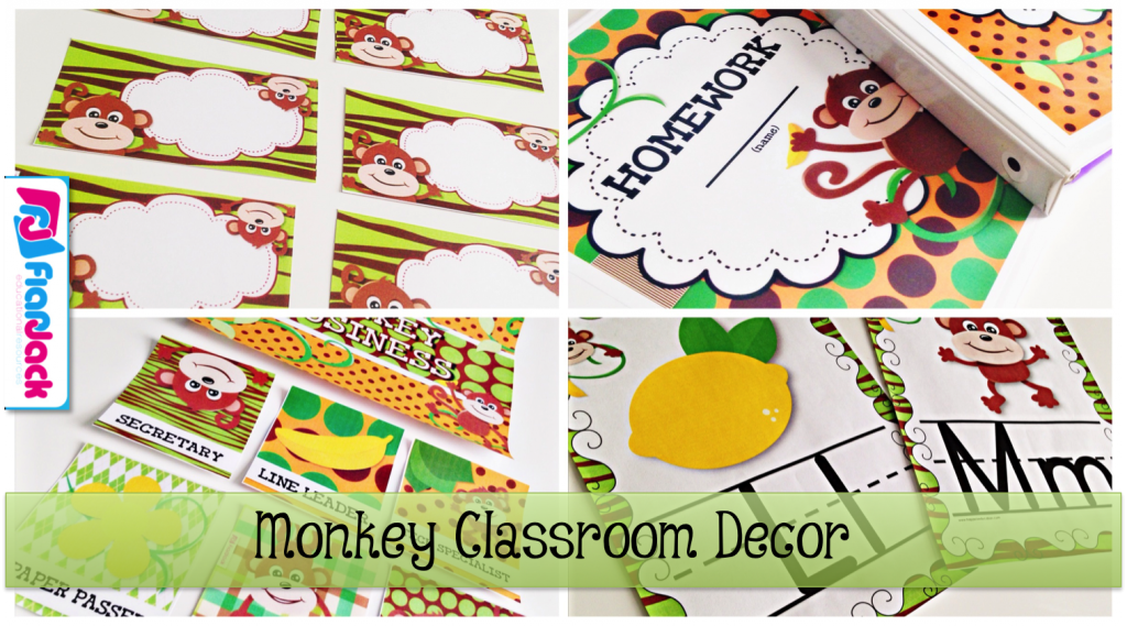 http://www.teacherspayteachers.com/Product/MONKEY-Themed-Classroom-Decor-Materials-Pack-1254995