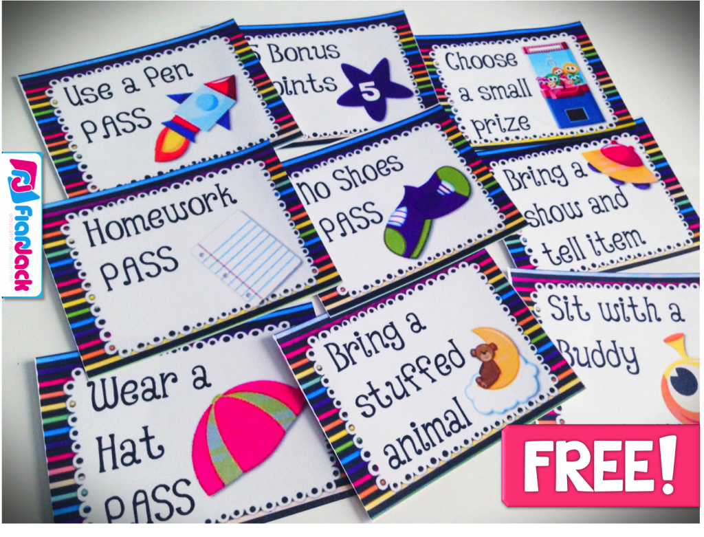 SPACE Behavior Coupons Freebie, Ideas, & Classroom Decor Pack