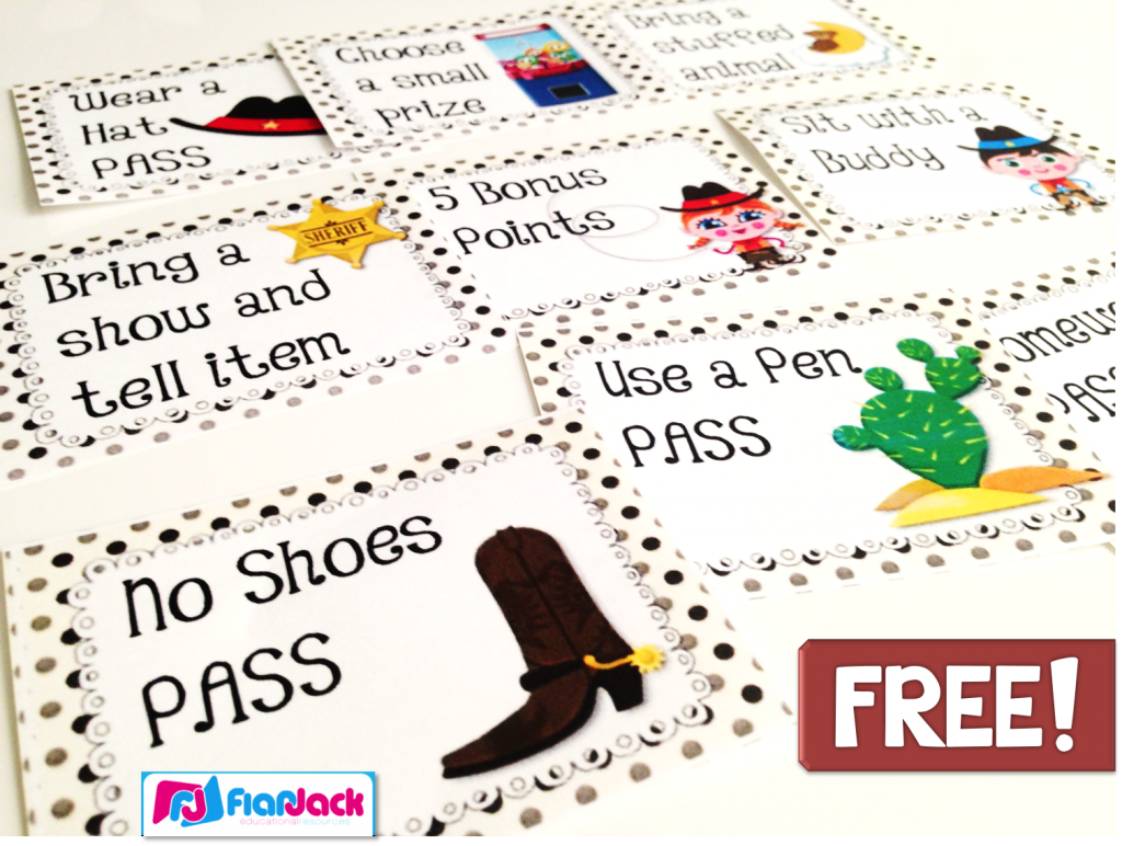 http://www.teacherspayteachers.com/Product/WESTERN-COWBOY-Themed-Positive-Behavior-Reward-Coupons-FREEBIE-1270048