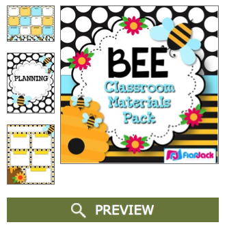 http://www.teacherspayteachers.com/Product/BEE-Themed-Classroom-Decor-Materials-Pack-1247730