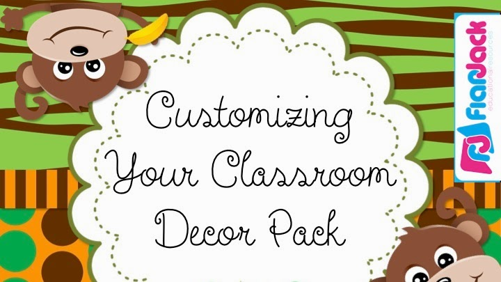 Customizing Your FlapJack Classroom Decor Pack