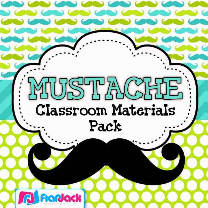 http://www.teacherspayteachers.com/Product/MUSTACHE-MOUSTACHE-Themed-Classroom-Decor-Materials-Pack-1283453