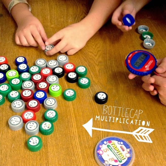 http://www.flapjackeducation.com/2011/11/math-facts-bottle-cap-recycling.html