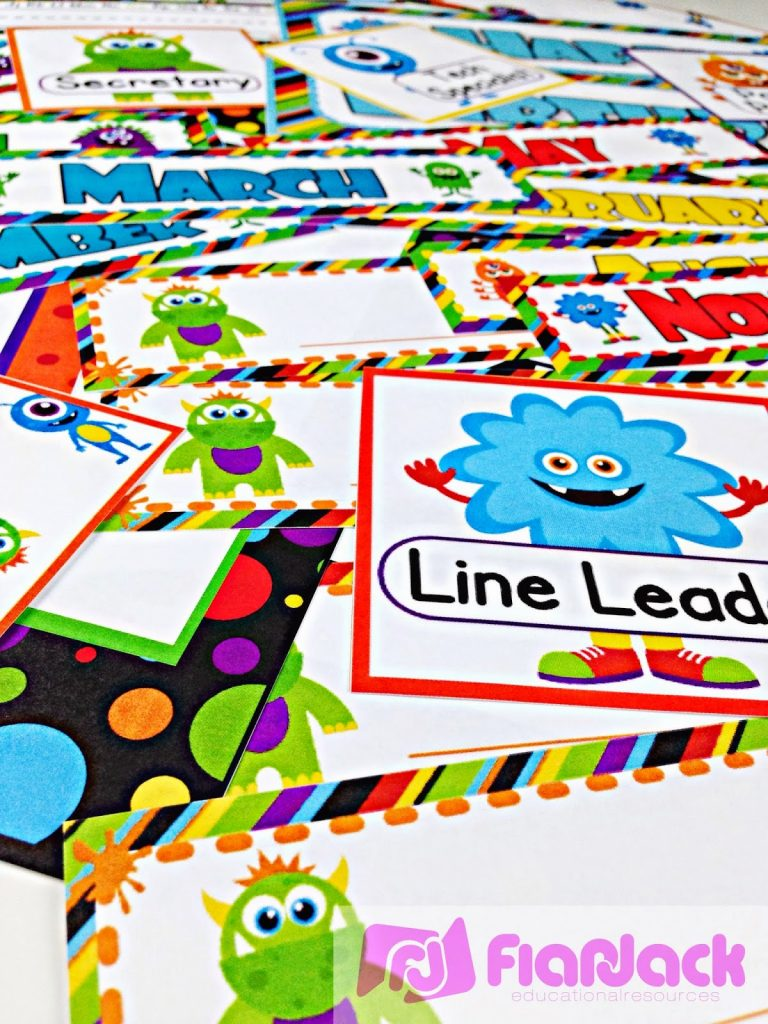 MONSTERS Classroom Theme Freebies, Ideas, & Pack