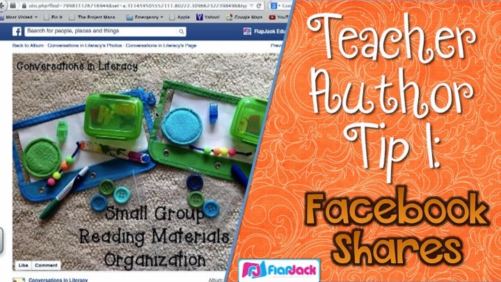 Teacher Author Tip 1: Facebook Sharing