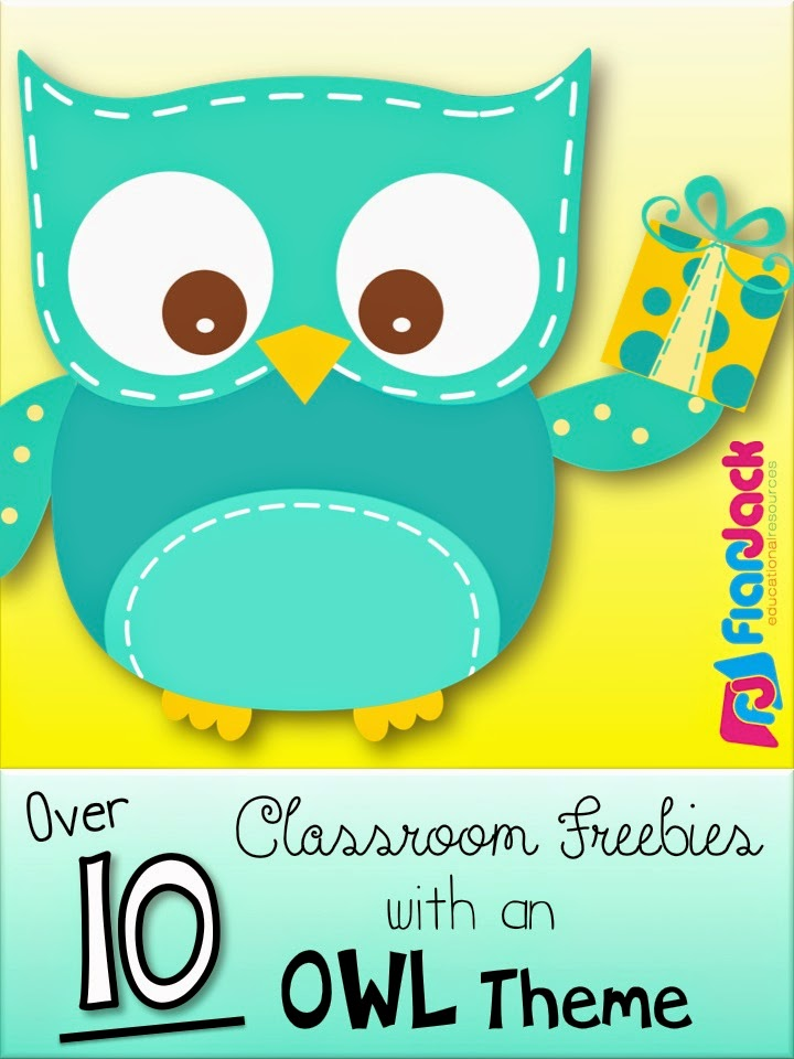 Classroom Decor And Learning ~ Lots of owls classroom theme freebies ideas pack