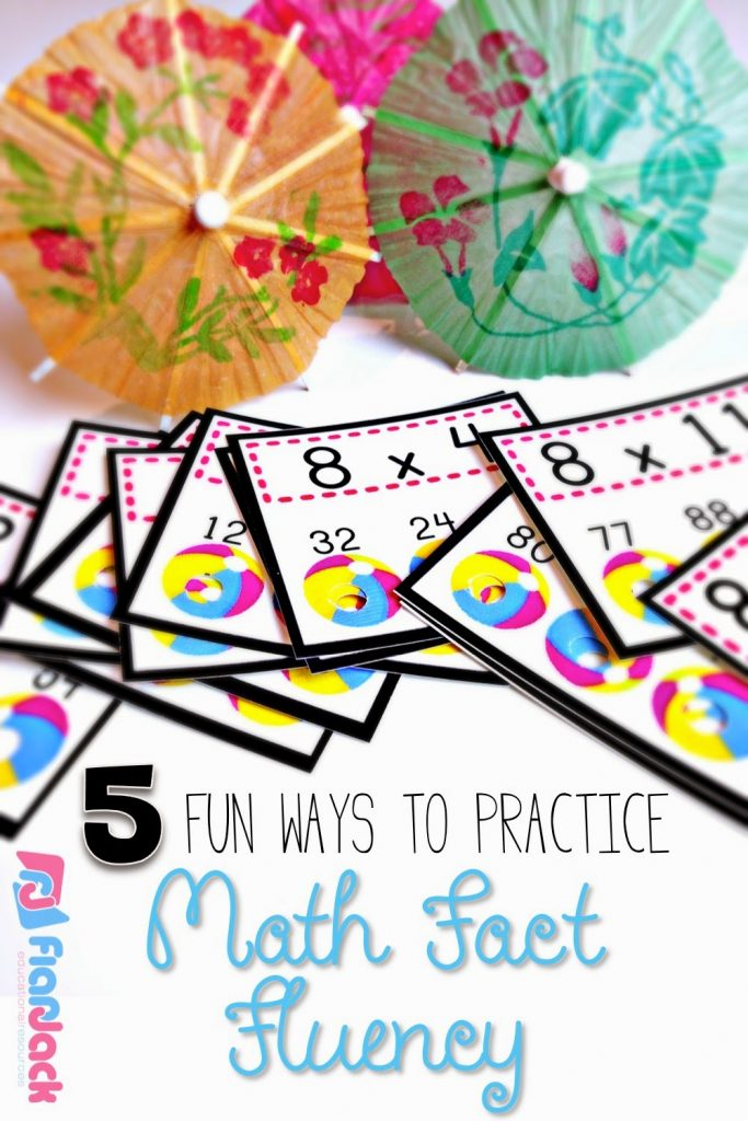 Five Fun Ways to Practice Math Fact Fluency