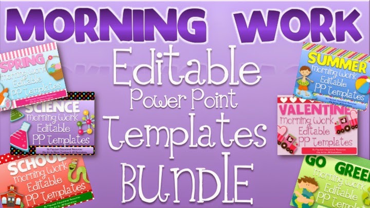 Daily Deal: Morning Work Editable Templates Bundle