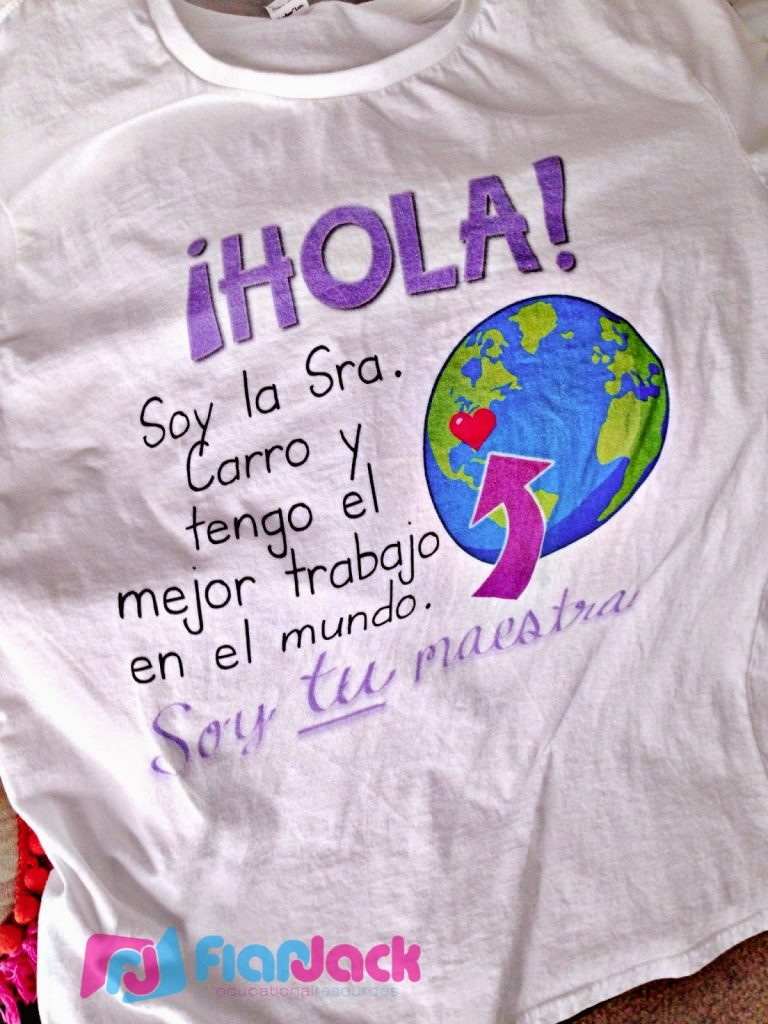 Making T-Shirts: First Day and Spanish Tips