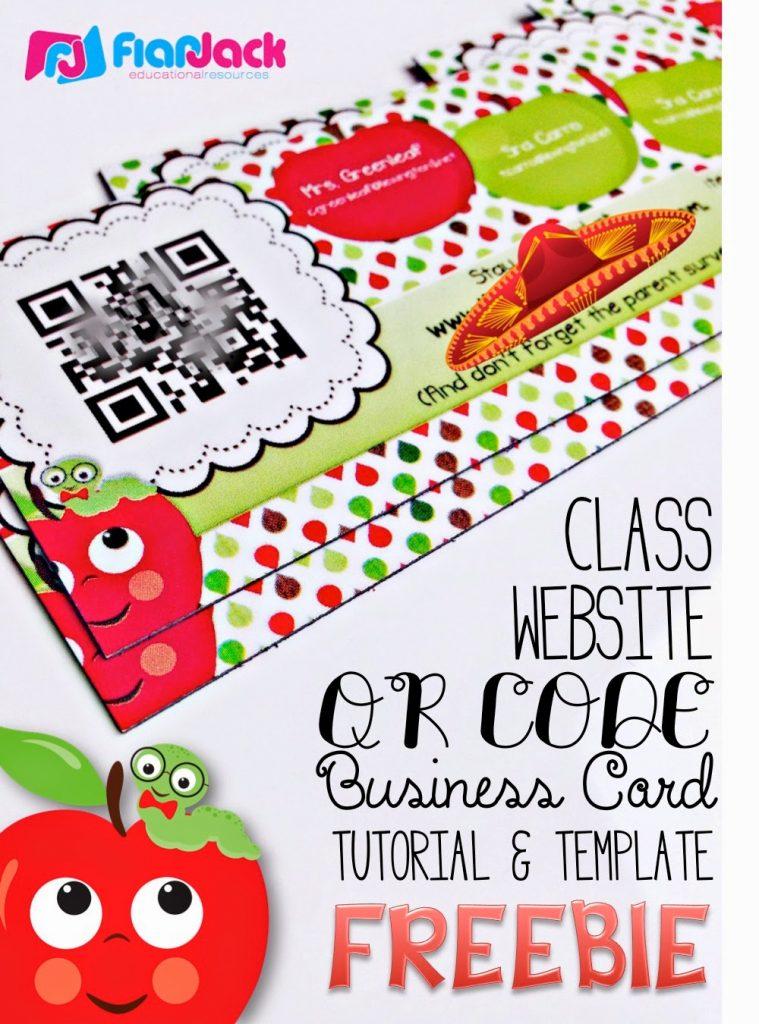 Class Website QR Code Business Cards Template FREEBIE