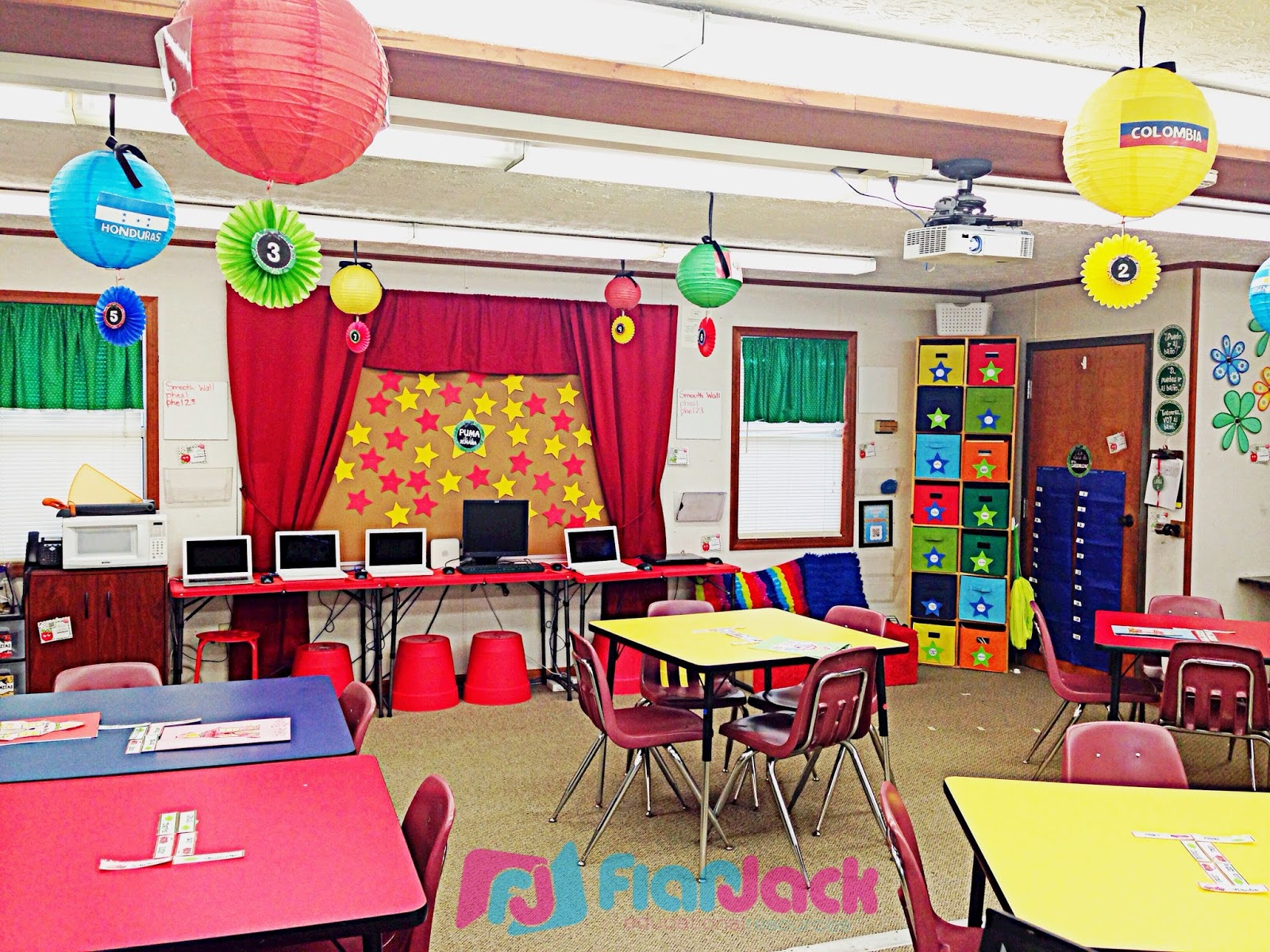 Classroom Decoration Colorful ~ Classroom reveal using my primary paisley decor pack