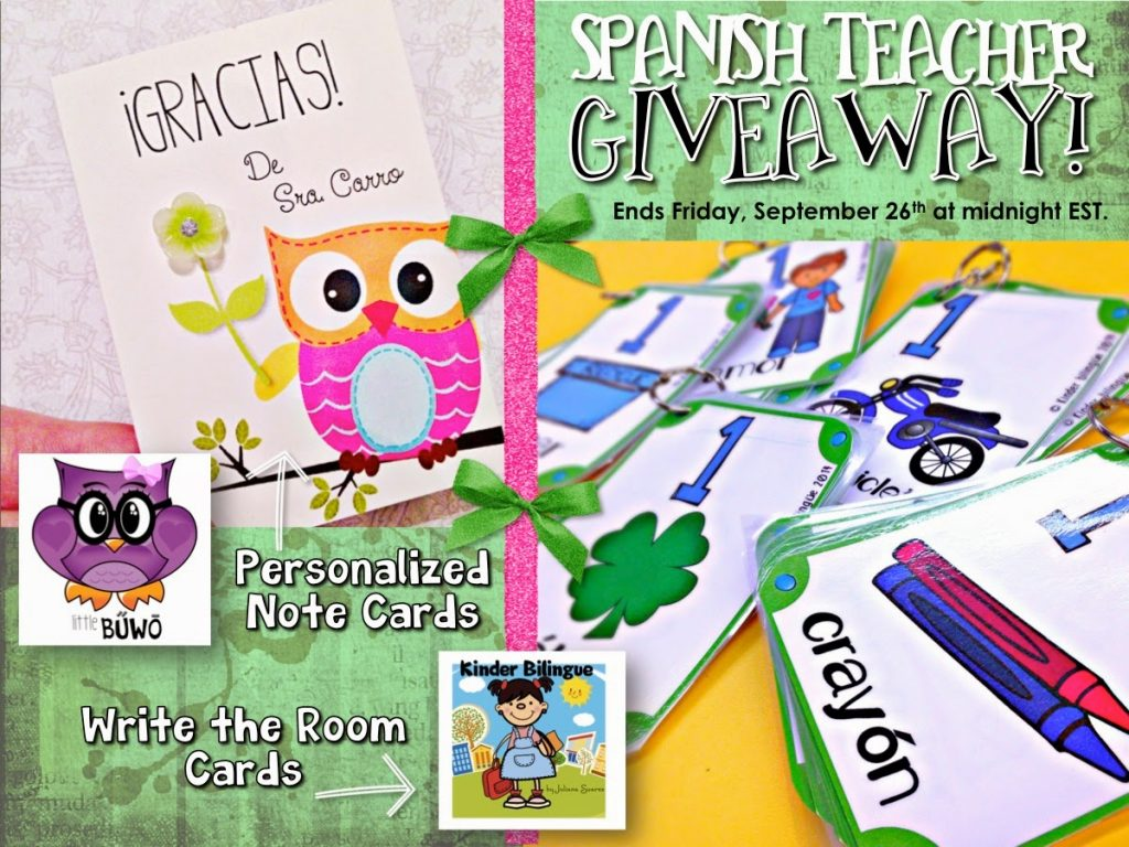 Spanish Teacher Giveaway!