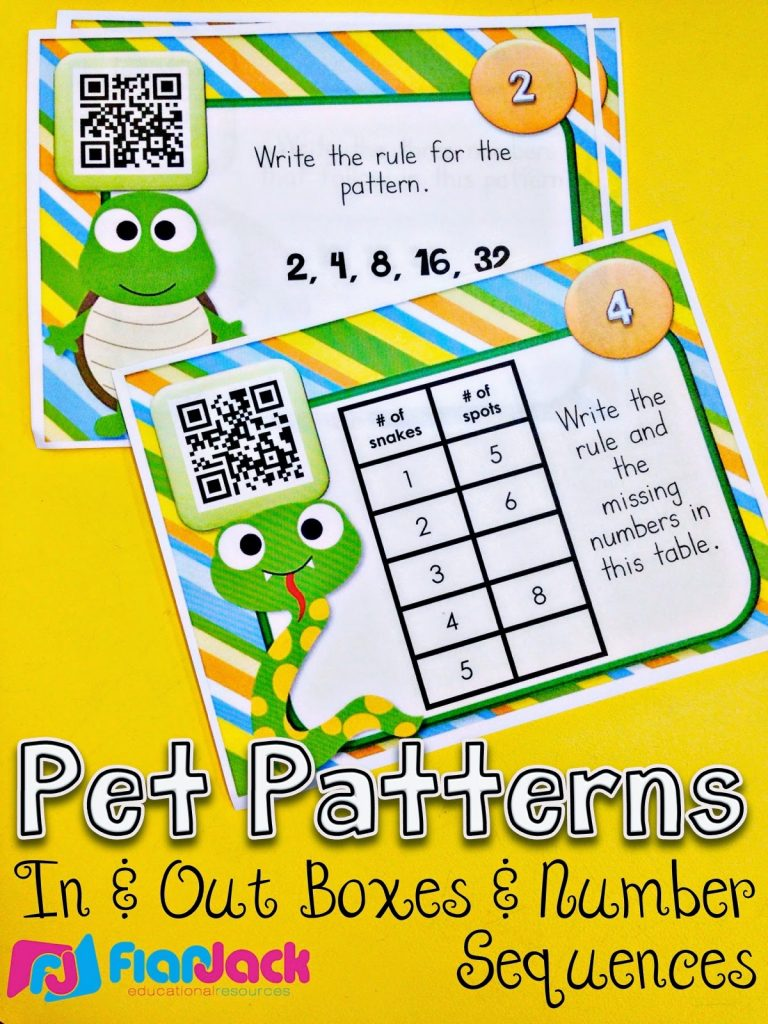 Pet Pattern QR Code Task Cards Just $1!
