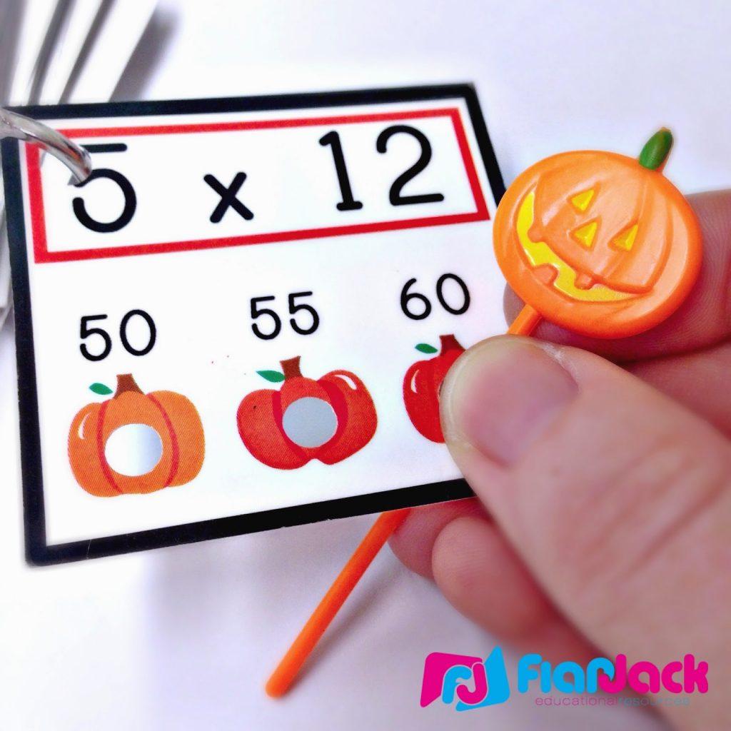 http://www.teacherspayteachers.com/Product/Multiplication-Pumpkin-Poke-Game-1490569