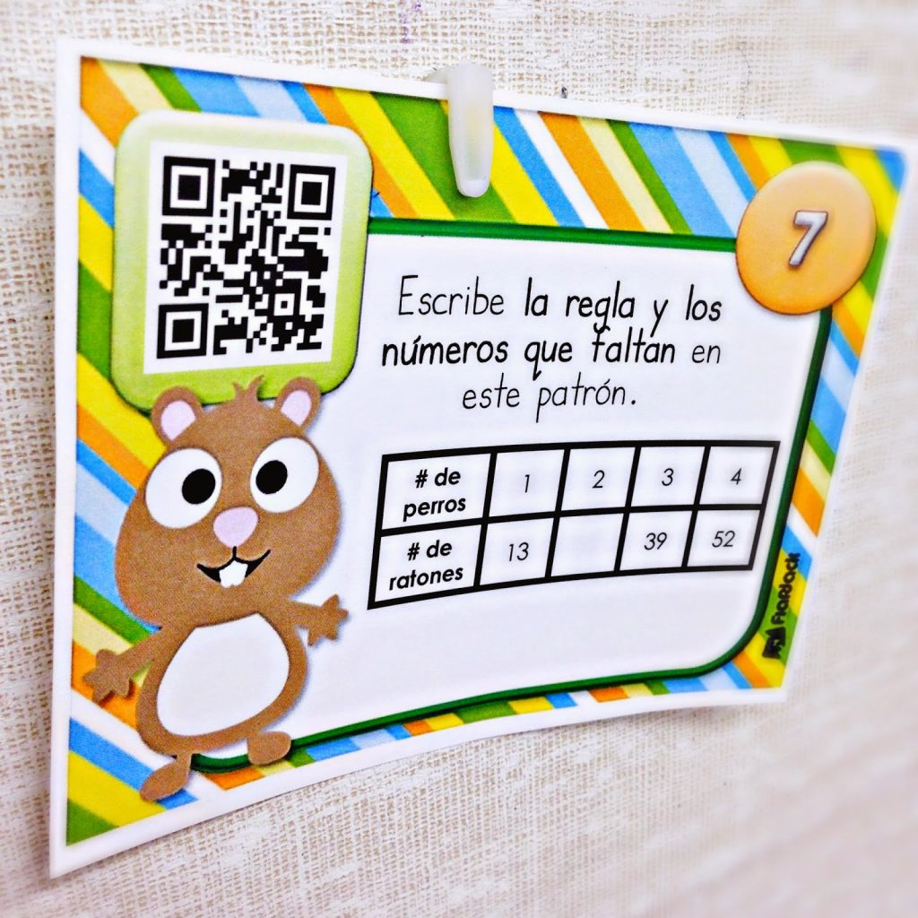 Pet Patterns QR Code Task Cards