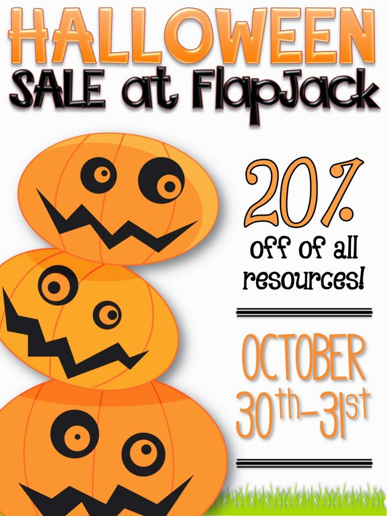 20% Off All FlapJack Resources Through Halloween!