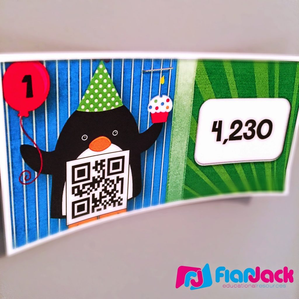http://www.teacherspayteachers.com/Product/Party-Penguins-Multiplication-QR-Code-Task-Card-Scavenger-Hunt-1560436