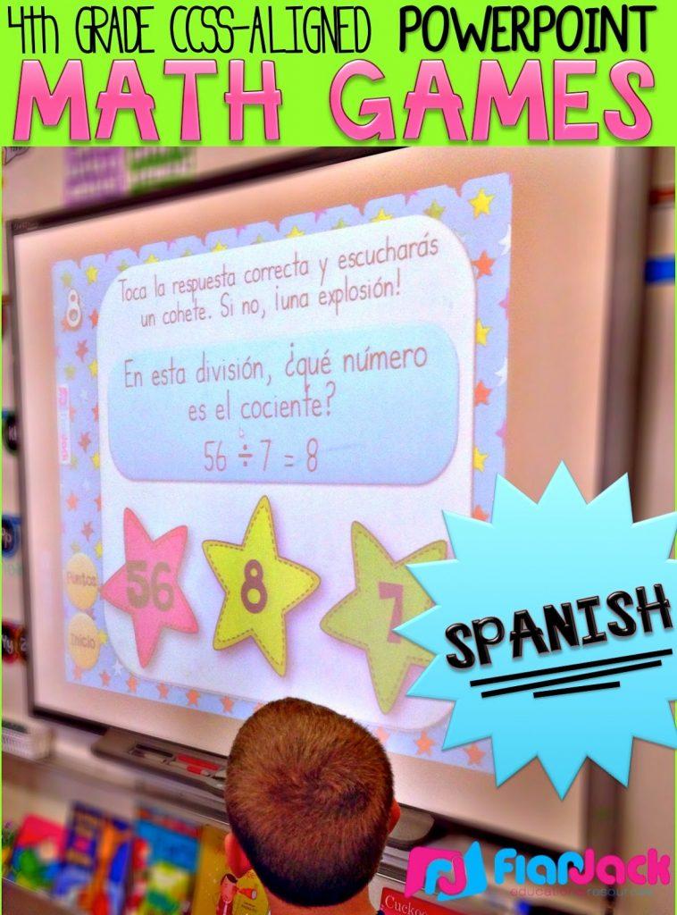 http://www.teacherspayteachers.com/Product/4th-Grade-SPANISH-Math-PowerPoint-Games-MEGA-Bundle-1538742