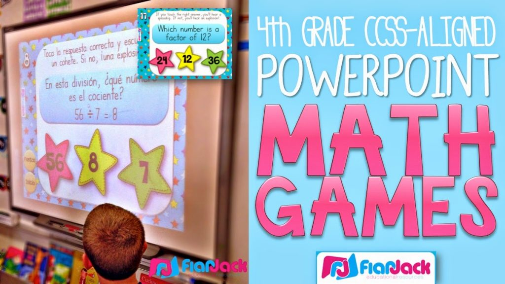 4th Grade Math PowerPoint Game Mega Bundle