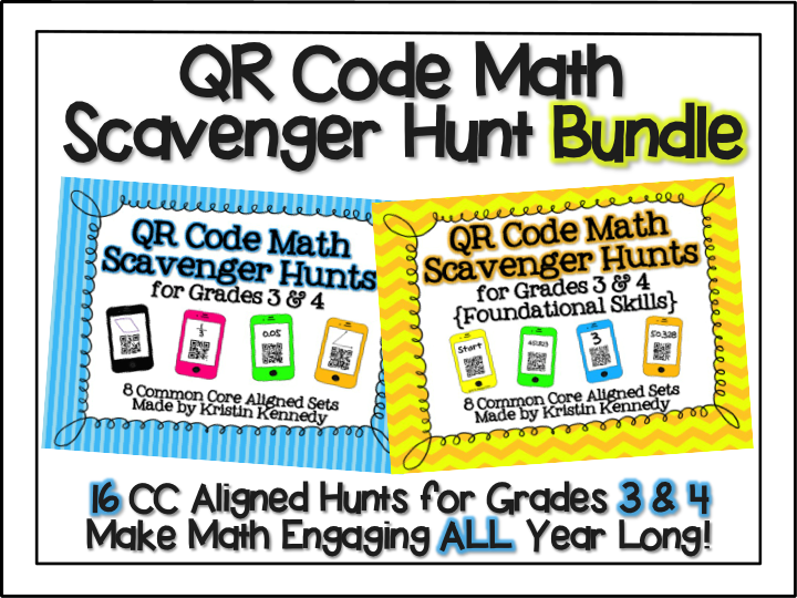 http://www.teacherspayteachers.com/Product/QR-Code-Scavenger-Hunt-BUNDLE-16-CC-Aligned-Math-Sets-for-Grades-3-4-1351112