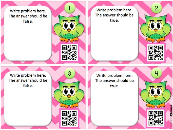 http://www.teacherspayteachers.com/Product/Editable-Owl-QR-Code-Task-Cards-Template-FREEBIE-1635309