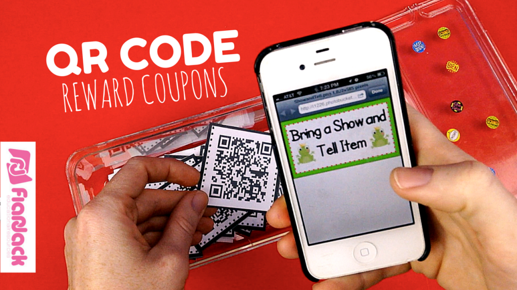 QR Code Reward Behavior Coupons Freebie