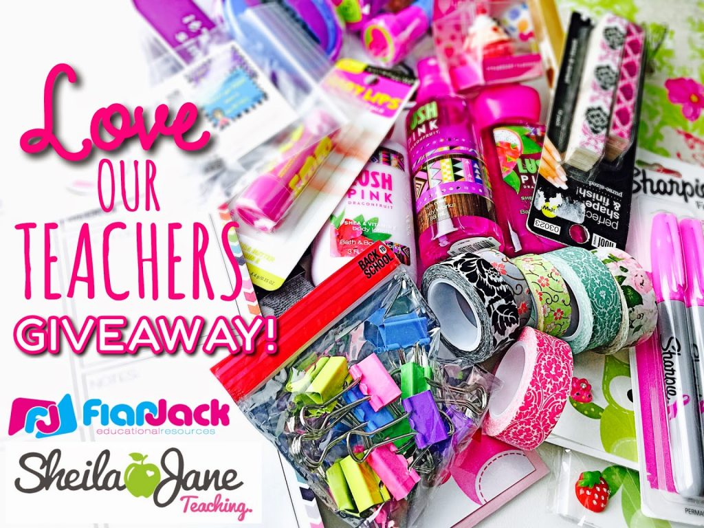 LOVE OUR TEACHERS Giveaway Boxes with Sheila Jane Teaching!