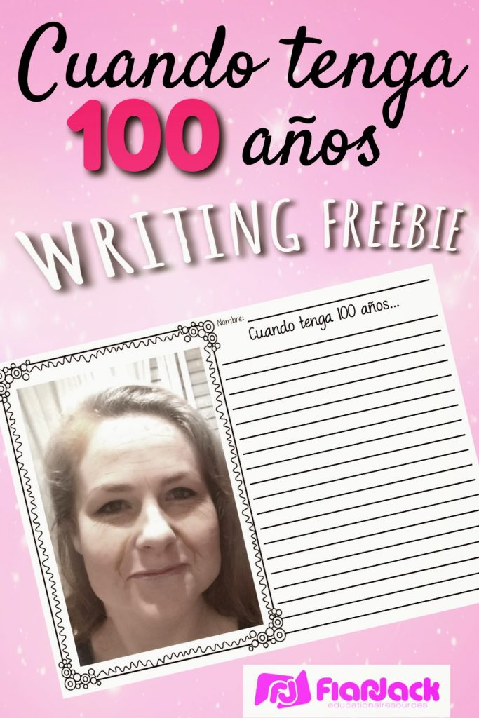 100 Years Old Spanish Writing Freebie