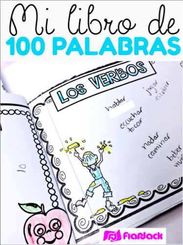 100 Spanish Words Mini Book
