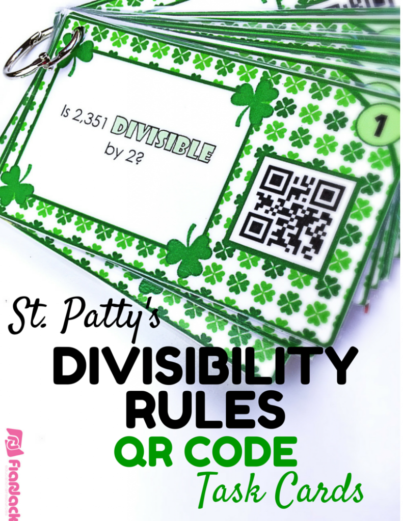 FlapJack Divisibility Rules Freebie