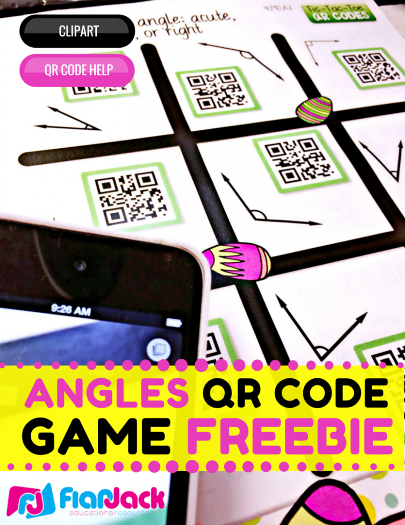 Identifying Angles QR Code Freebie