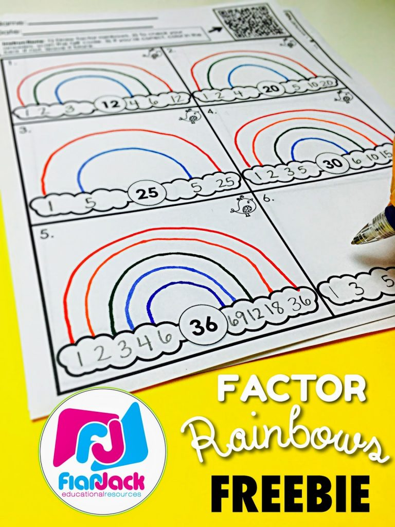 Factor Rainbows FREEBIE & Bundle
