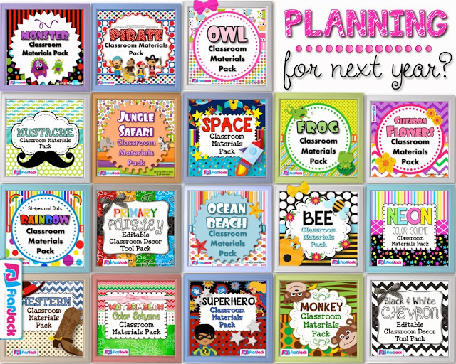 Classroom Theme Decor Packs