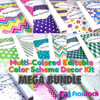 FlapJack Color Scheme Class Decor Bundle