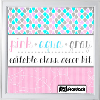https://www.teacherspayteachers.com/Product/Editable-Pink-Aqua-Gray-Class-Decor-Kit-1881762