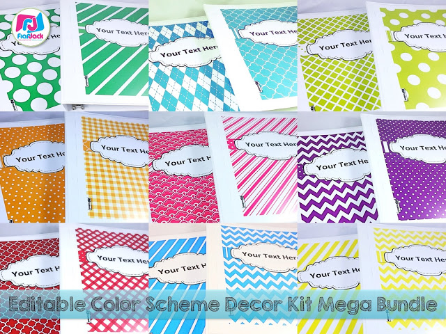 Editable Color Scheme Decor Kit Mega Bundle