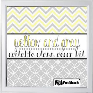 https://www.teacherspayteachers.com/Product/Editable-Yellow-Gray-Class-Decor-Kit-1883157