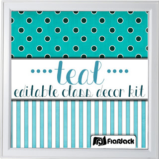 https://www.teacherspayteachers.com/Product/Editable-Teal-Class-Decor-Kit-1881800