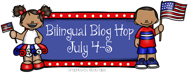 July 4th Bilingual Blog Hop and Spanish Freebie