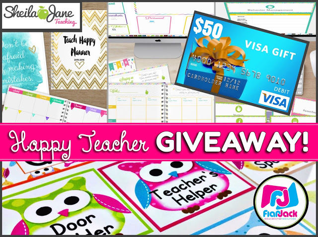 Happy Teacher Giveaway with Sheila Jane Teaching!