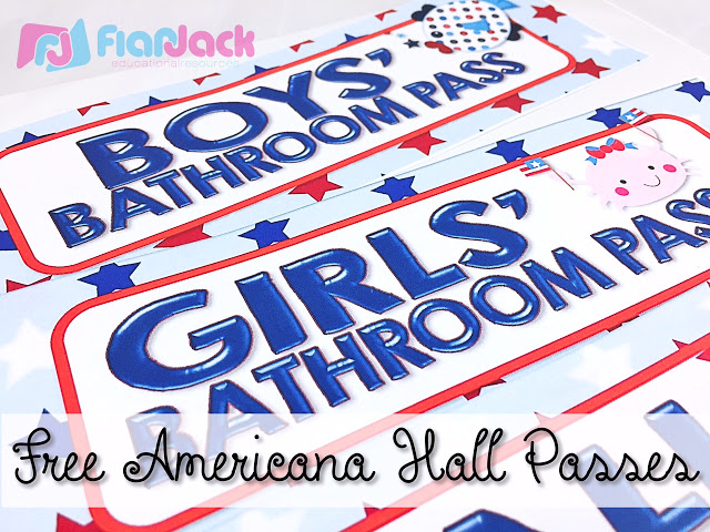 Americana Class Decor Pack and Hall Passes Freebie