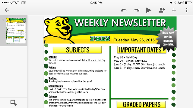 Google Slides Newsletter
